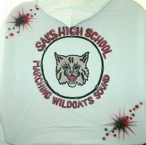 MARCHING BAND DRUM, YOUR LOGO Airbrushed T-shirt